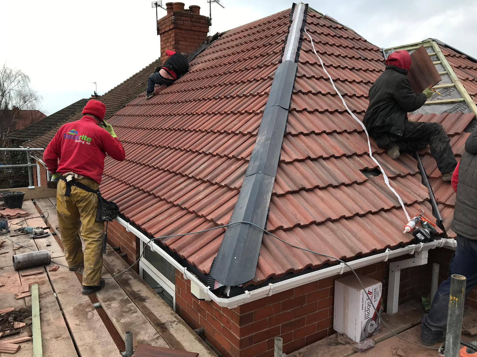 another pitched roof finished by the team