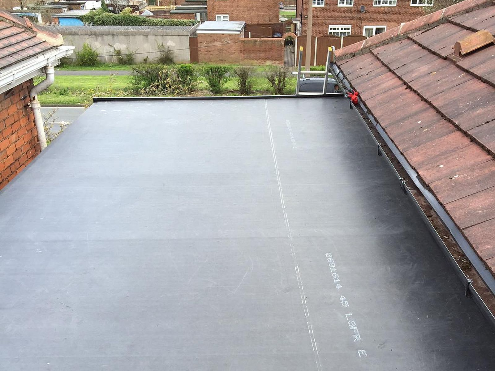 extension flat roof finished job