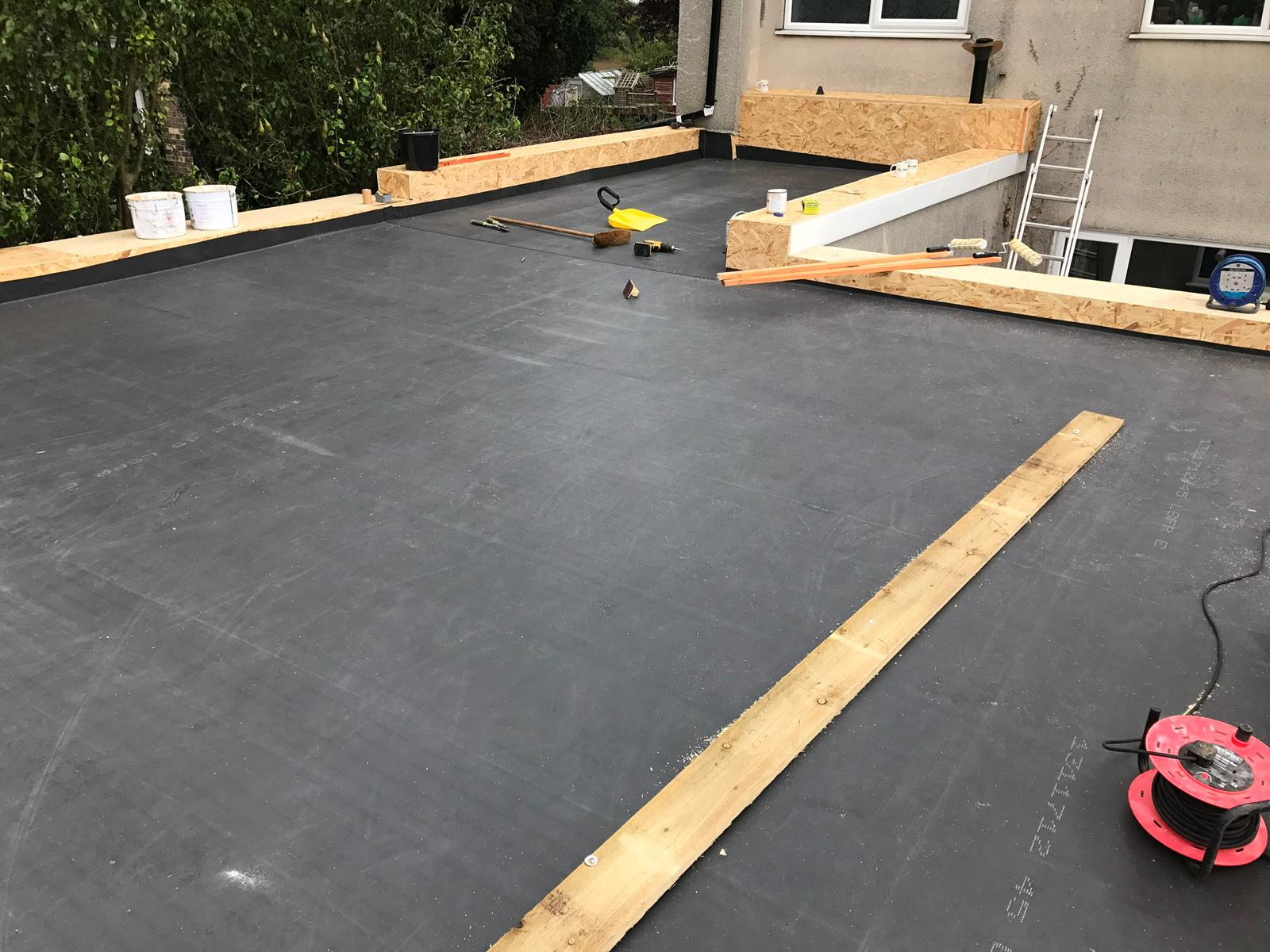 flat roofing job