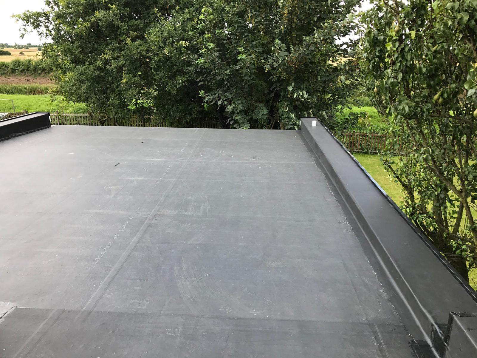 finished rubber roofing in scunthorpe